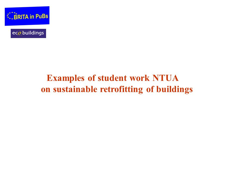 Examples of student work NTUA on sustainable retrofitting of buildings