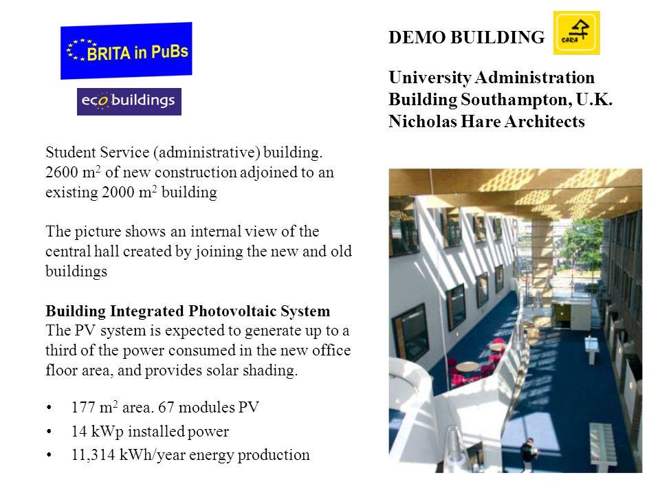 DEMO BUILDING University Administration Building Southampton, U.K. Nicholas Hare Architects.