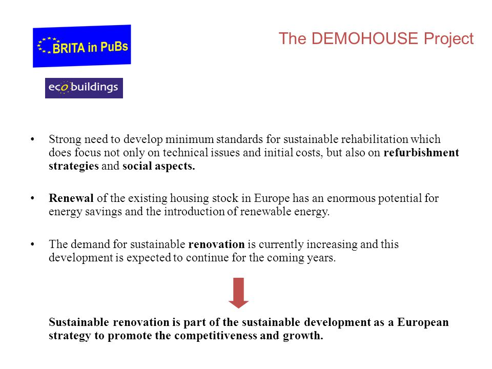 The DEMOHOUSE Project