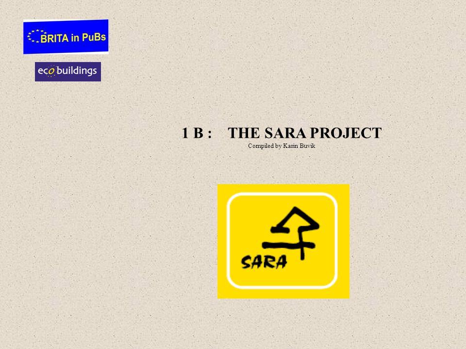 1 B : THE SARA PROJECT Compiled by Karin Buvik