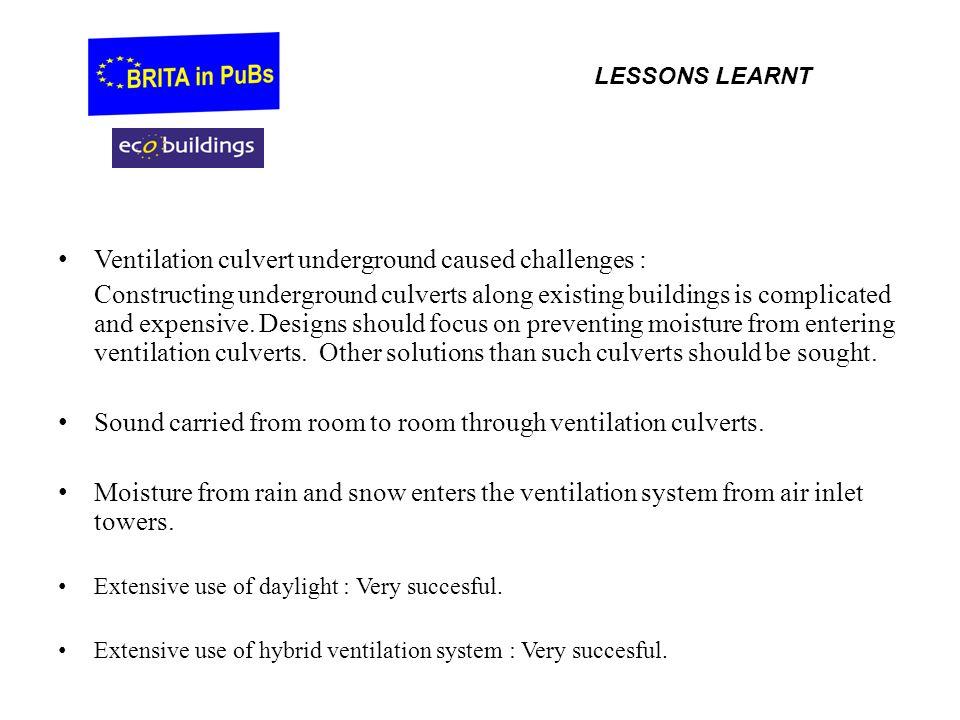 Ventilation culvert underground caused challenges :