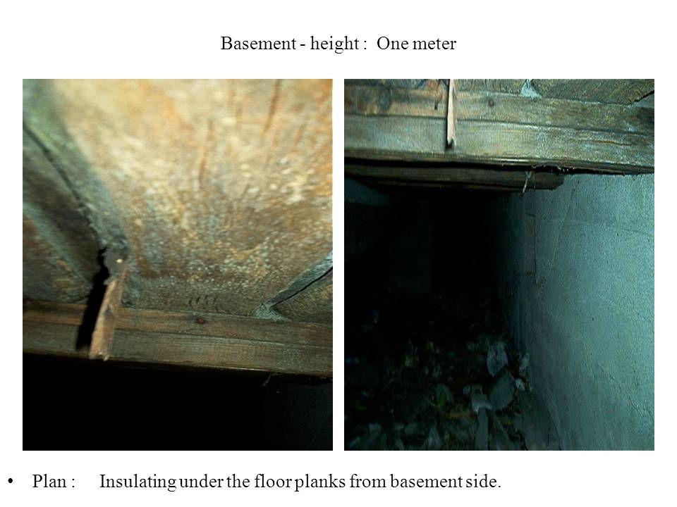 Basement - height : One meter