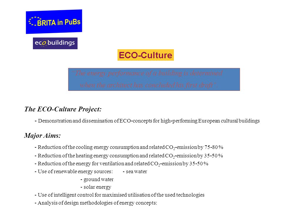 The energy performance of a building is determined