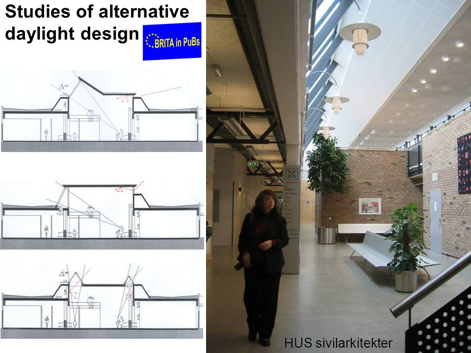 Studies of alternative daylight design