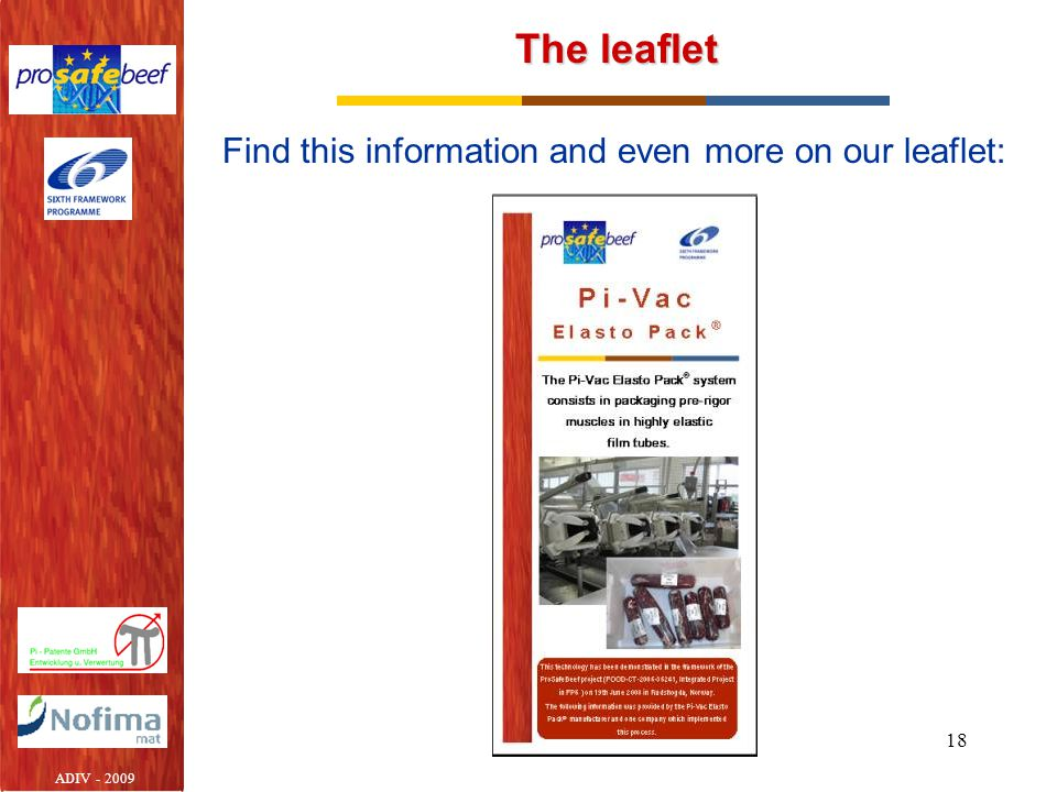 The leaflet Find this information and even more on our leaflet: