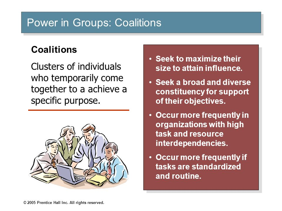 Power in Groups: Coalitions