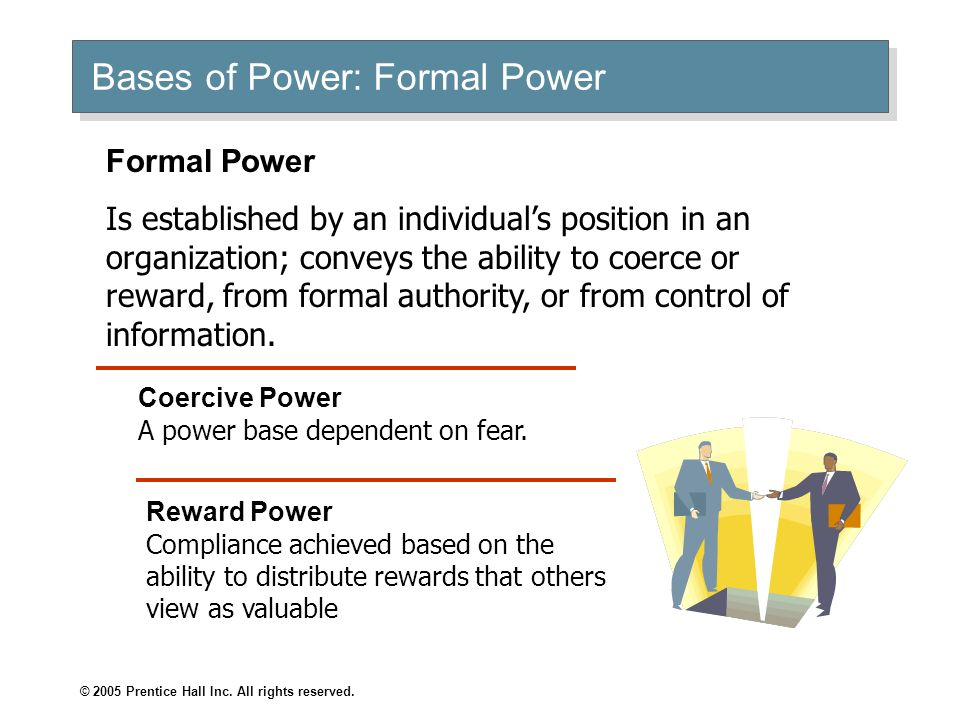 Bases of Power: Formal Power