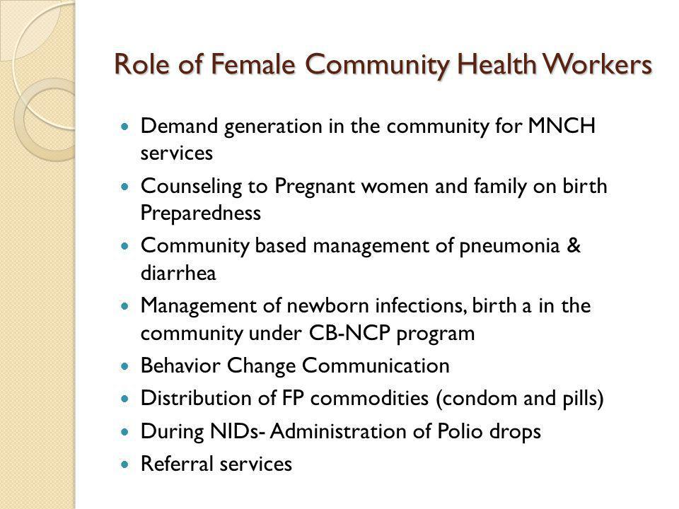 Role of Female Community Health Workers