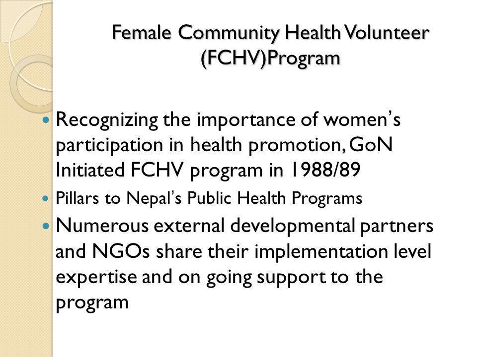 Female Community Health Volunteer (FCHV)Program