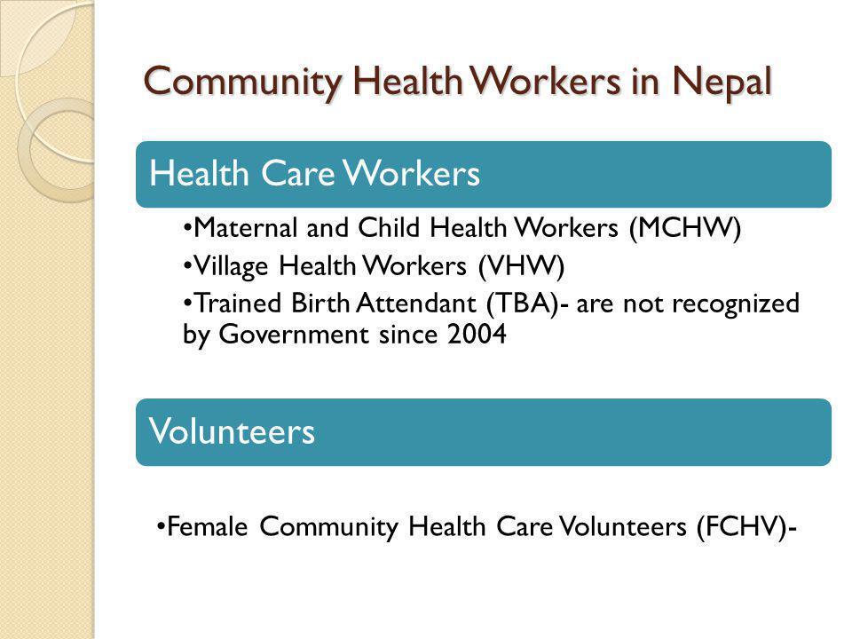 Community Health Workers in Nepal