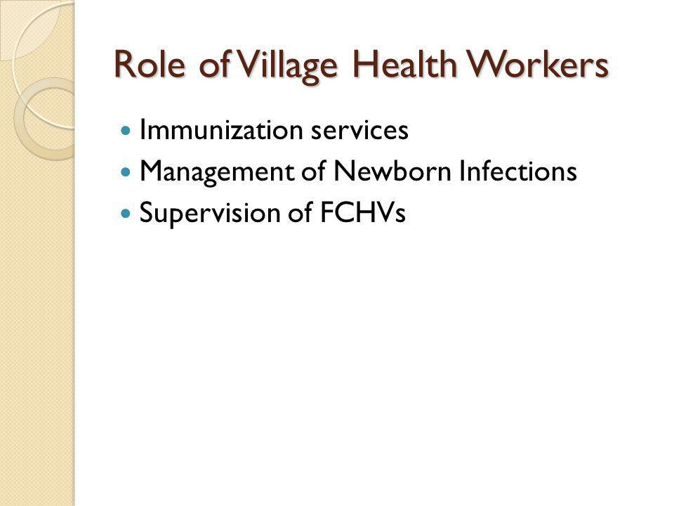 Role of Village Health Workers