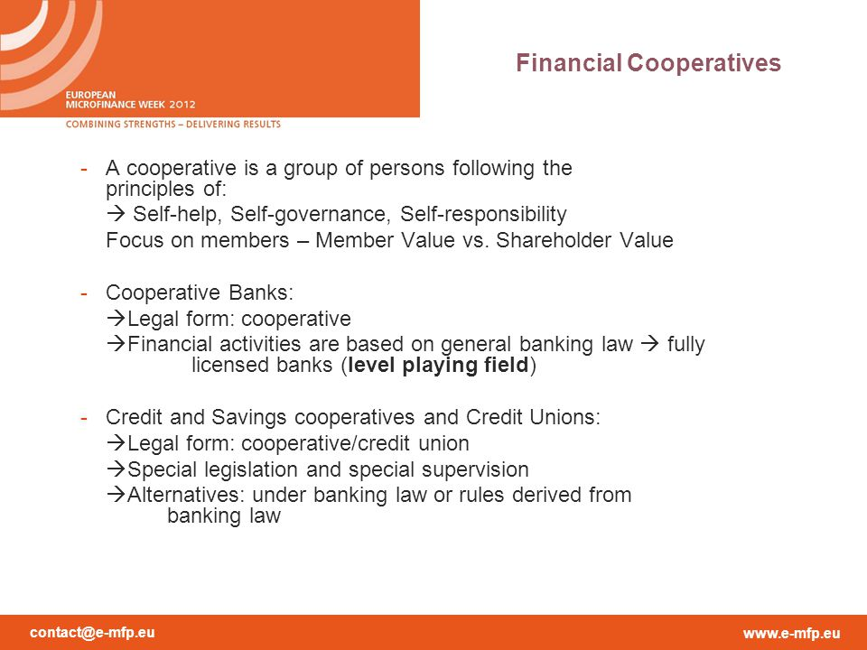 Financial Cooperatives