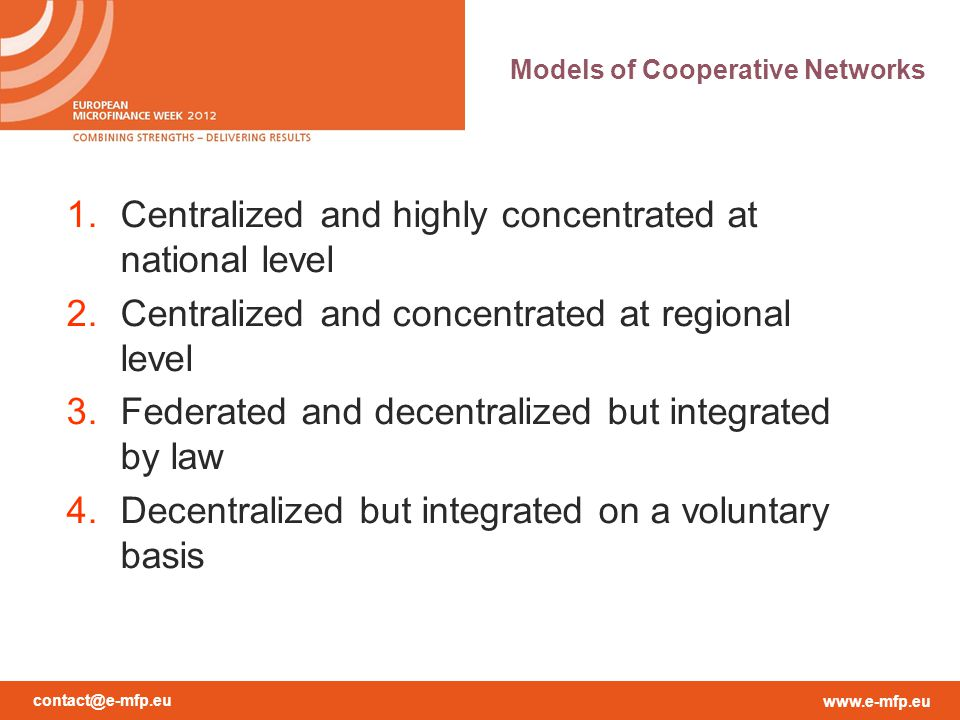 Models of Cooperative Networks