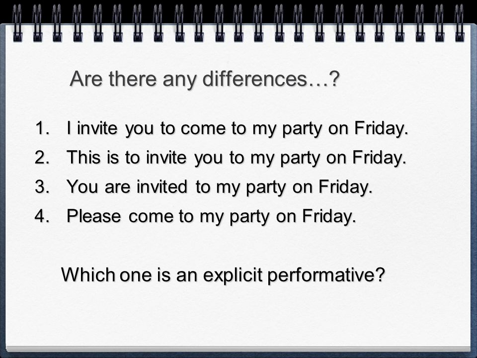 Are there any differences…