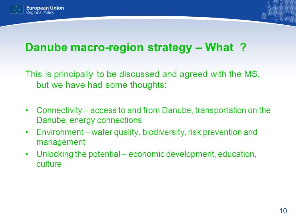 Danube macro-region strategy – What