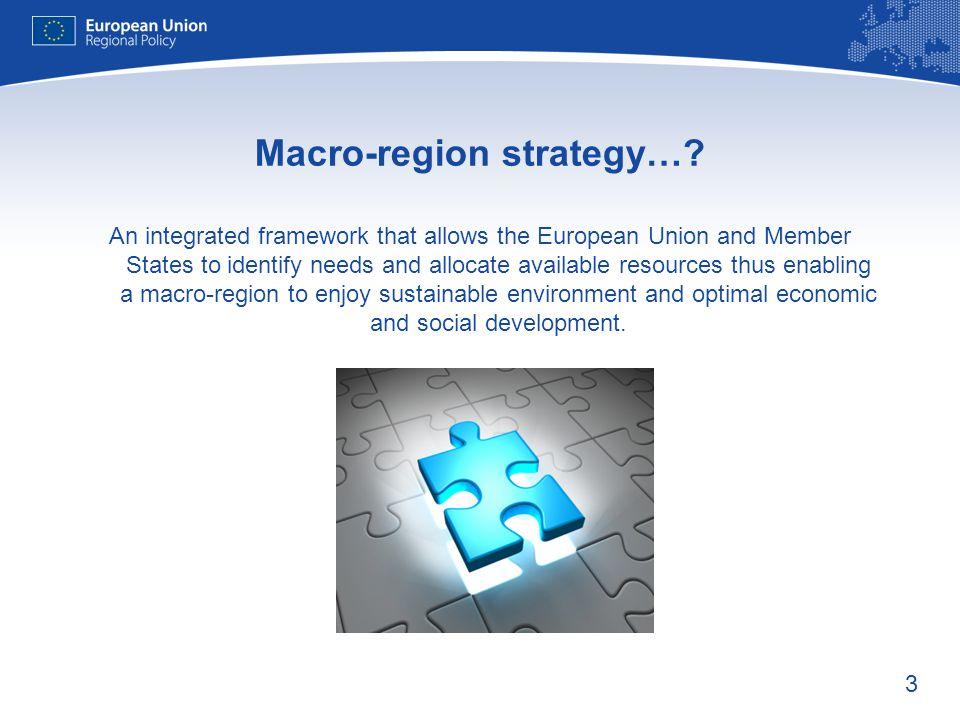 Macro-region strategy…