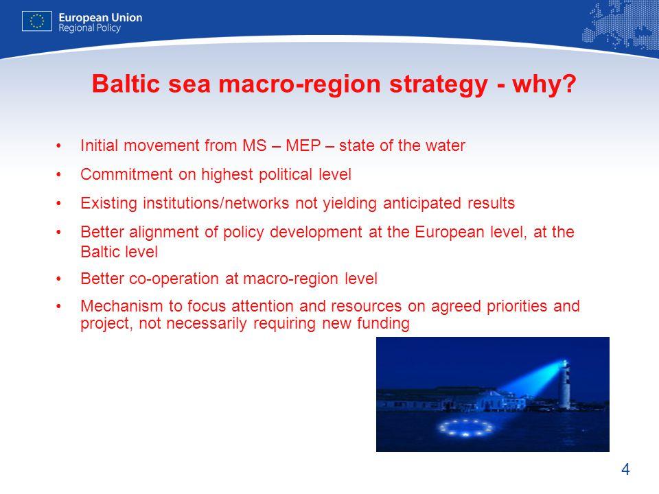 Baltic sea macro-region strategy - why