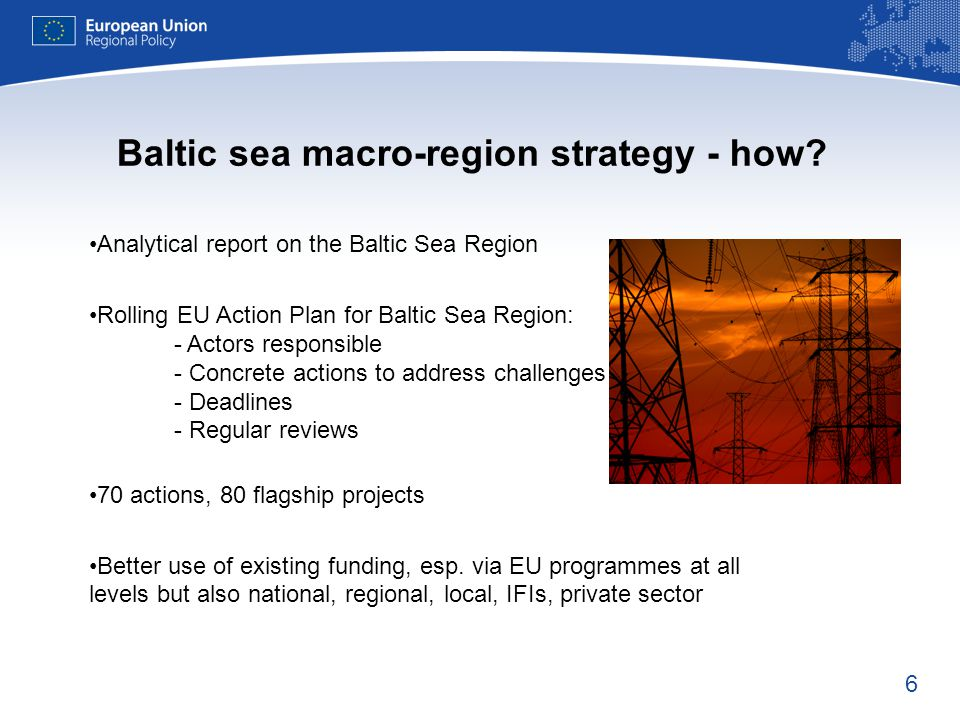 Baltic sea macro-region strategy - how