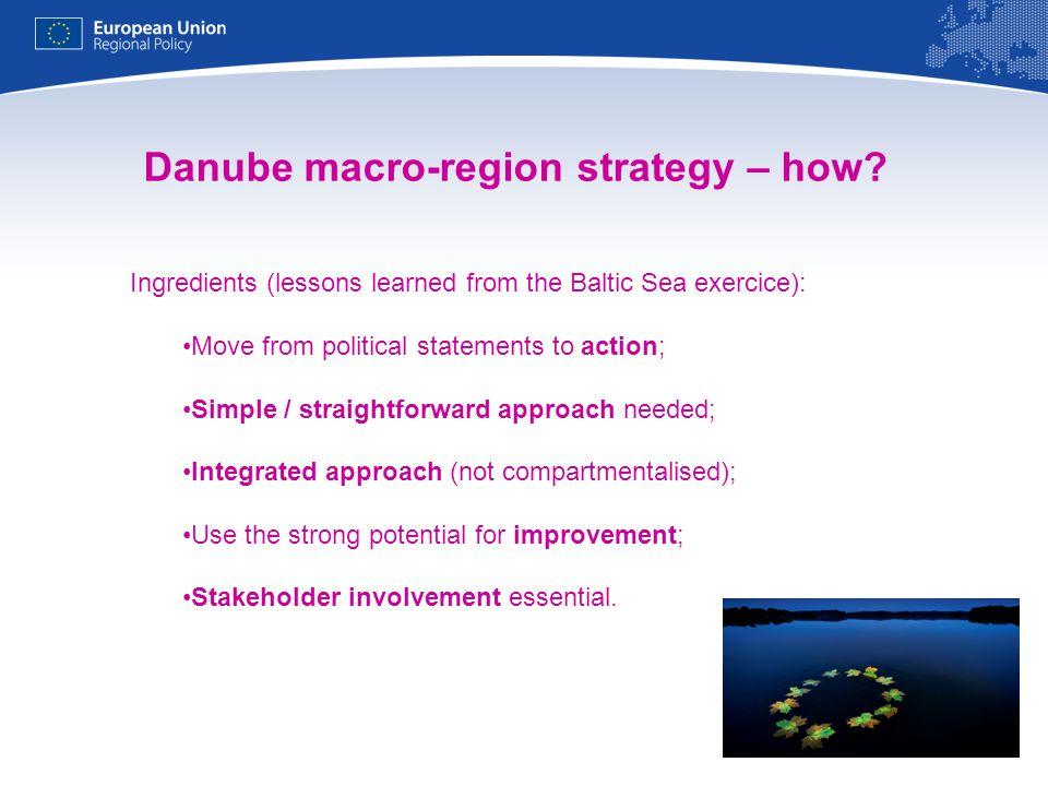 Danube macro-region strategy – how