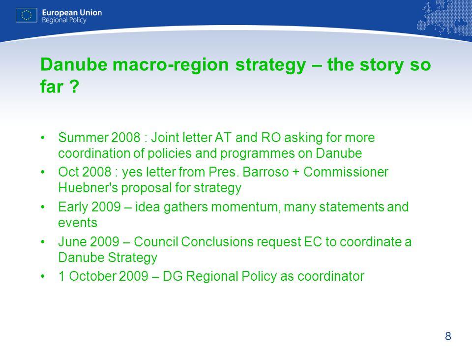 Danube macro-region strategy – the story so far