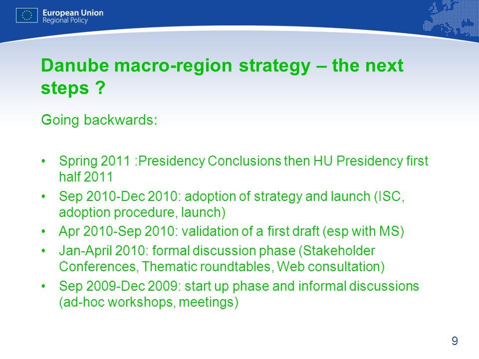 Danube macro-region strategy – the next steps