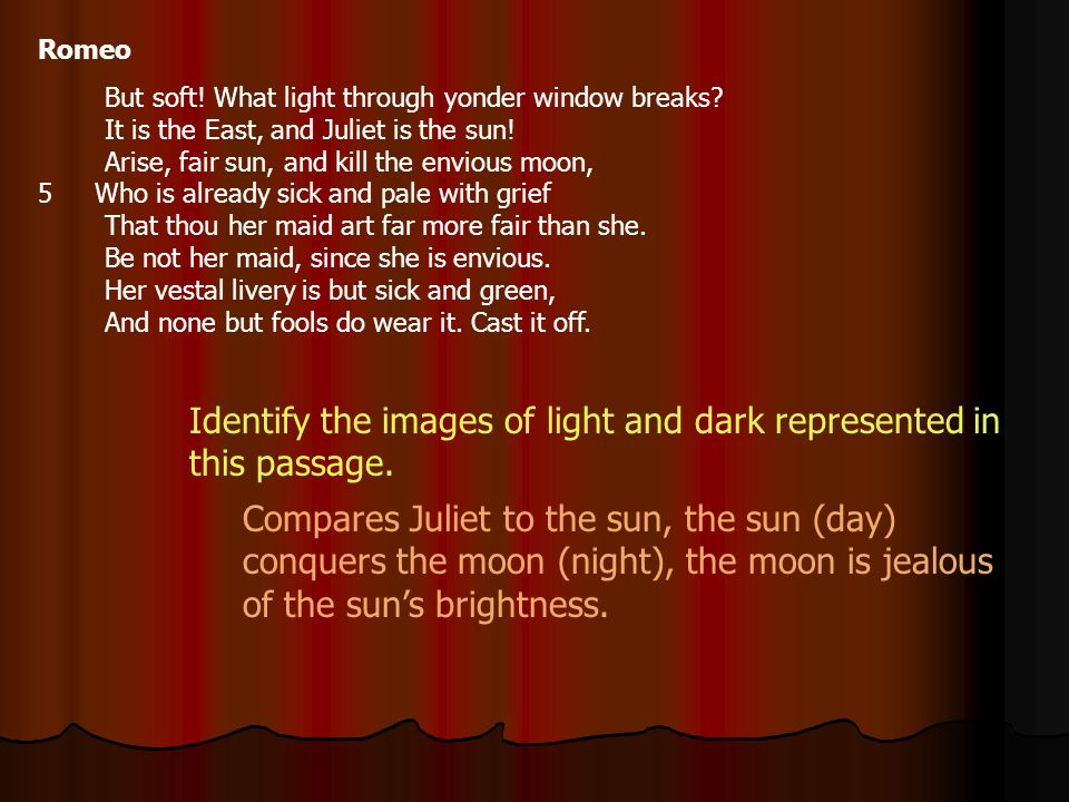 Identify the images of light and dark represented in this passage.
