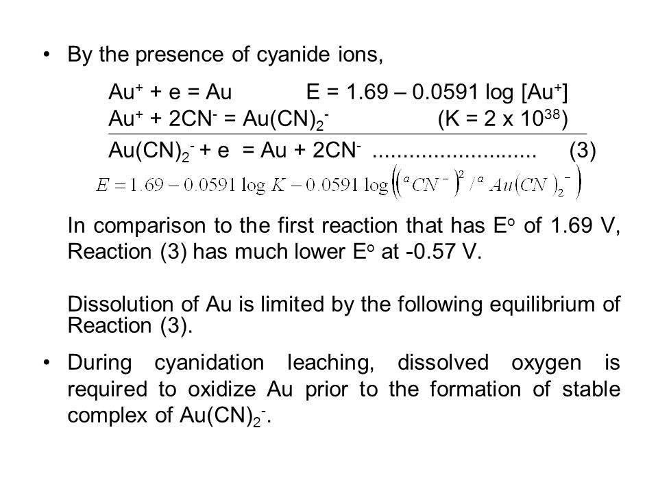 By the presence of cyanide ions,