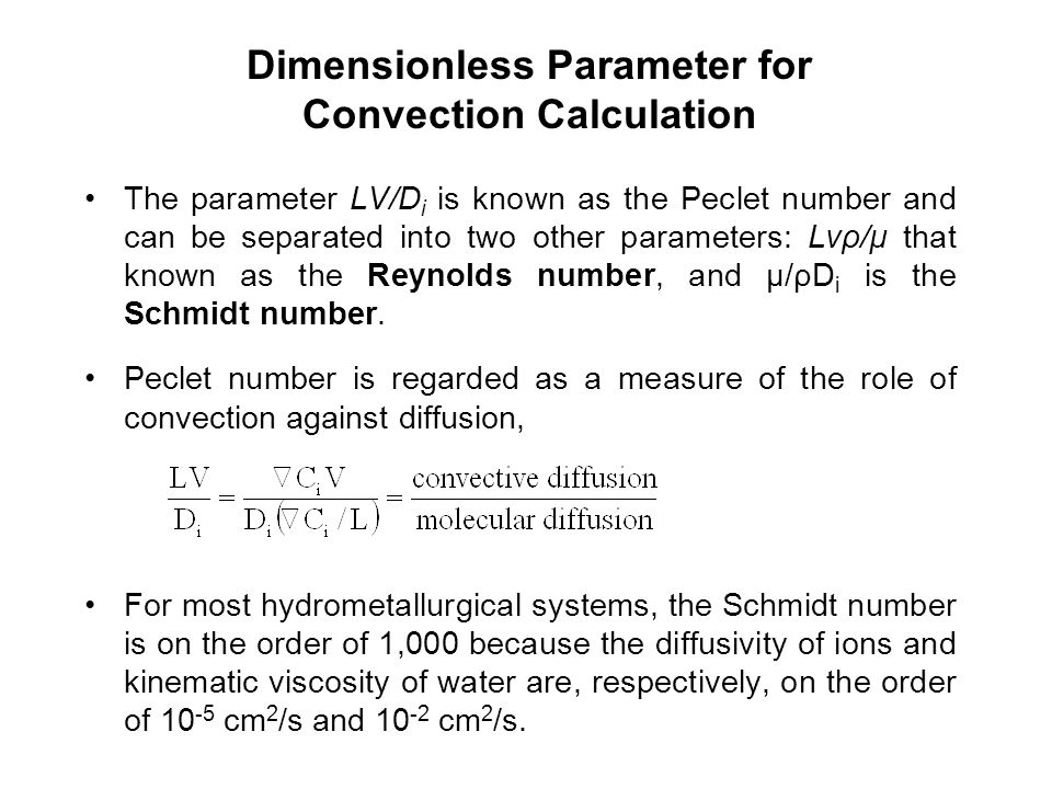 Dimensionless Parameter for Convection Calculation