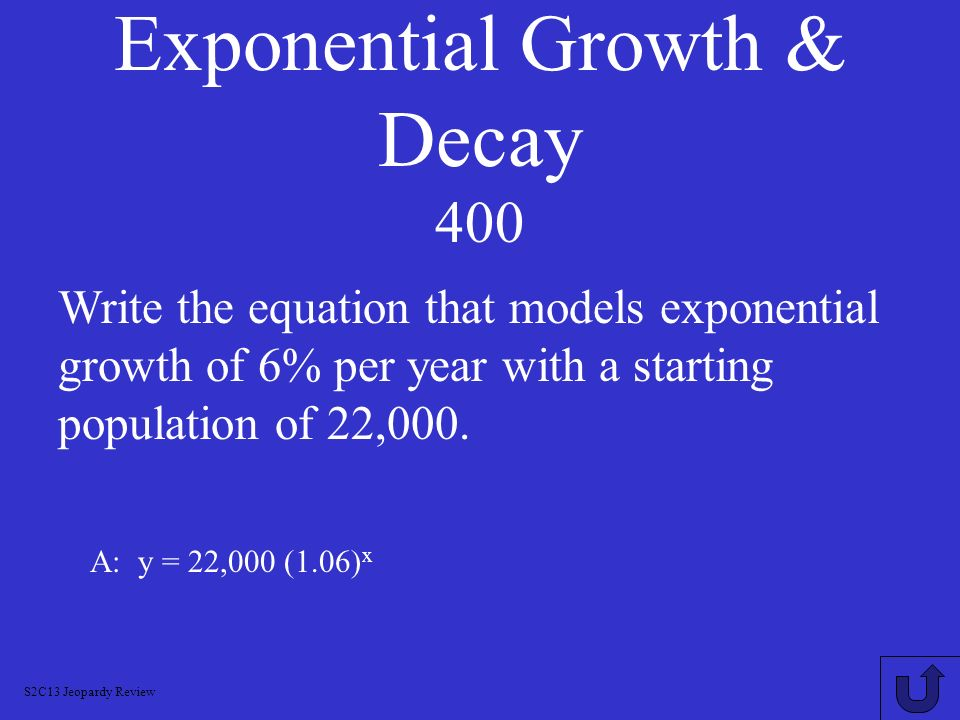 Exponential Growth & Decay 400