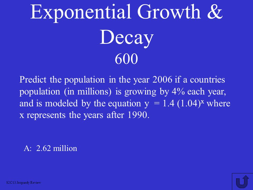 Exponential Growth & Decay 600