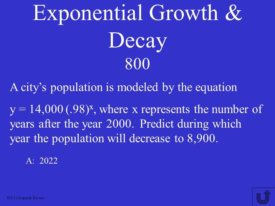 Exponential Growth & Decay 800