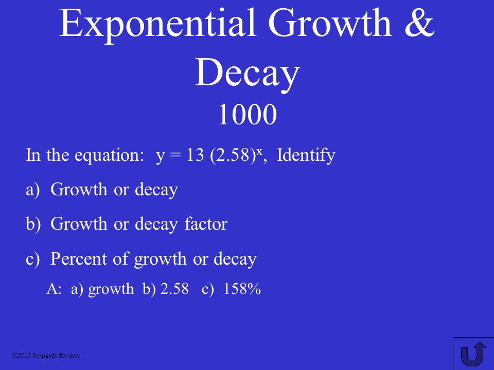 Exponential Growth & Decay 1000