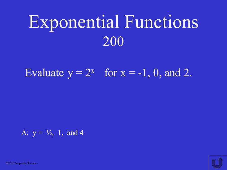 Exponential Functions 200