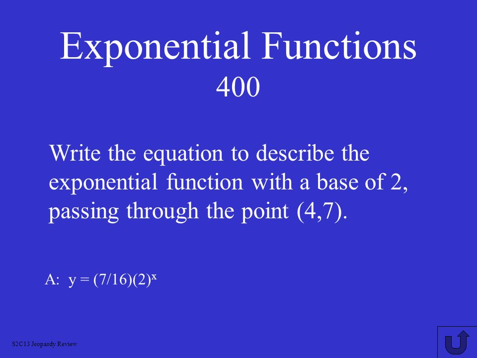 Exponential Functions 400