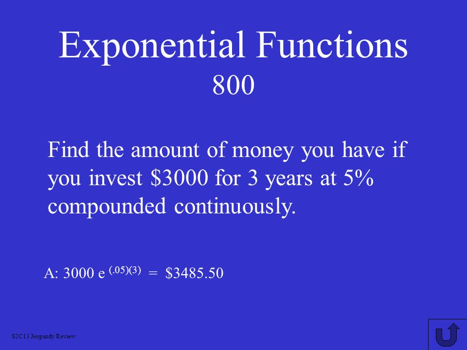 Exponential Functions 800