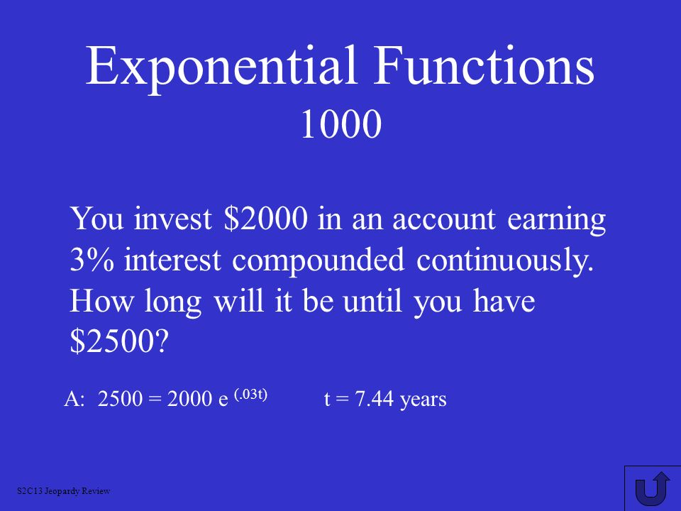Exponential Functions 1000