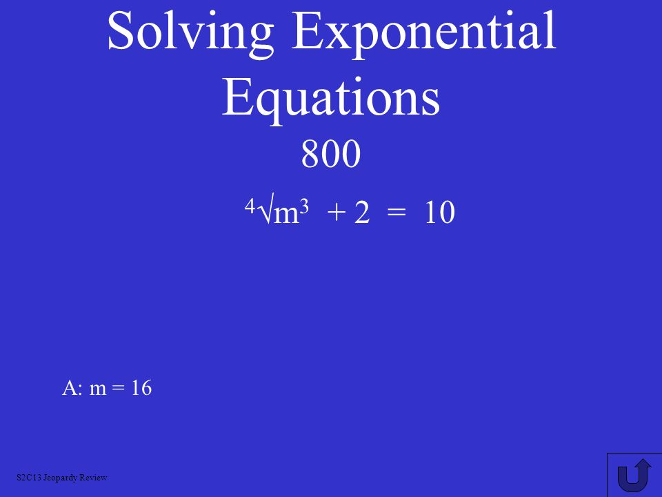 Solving Exponential Equations 800