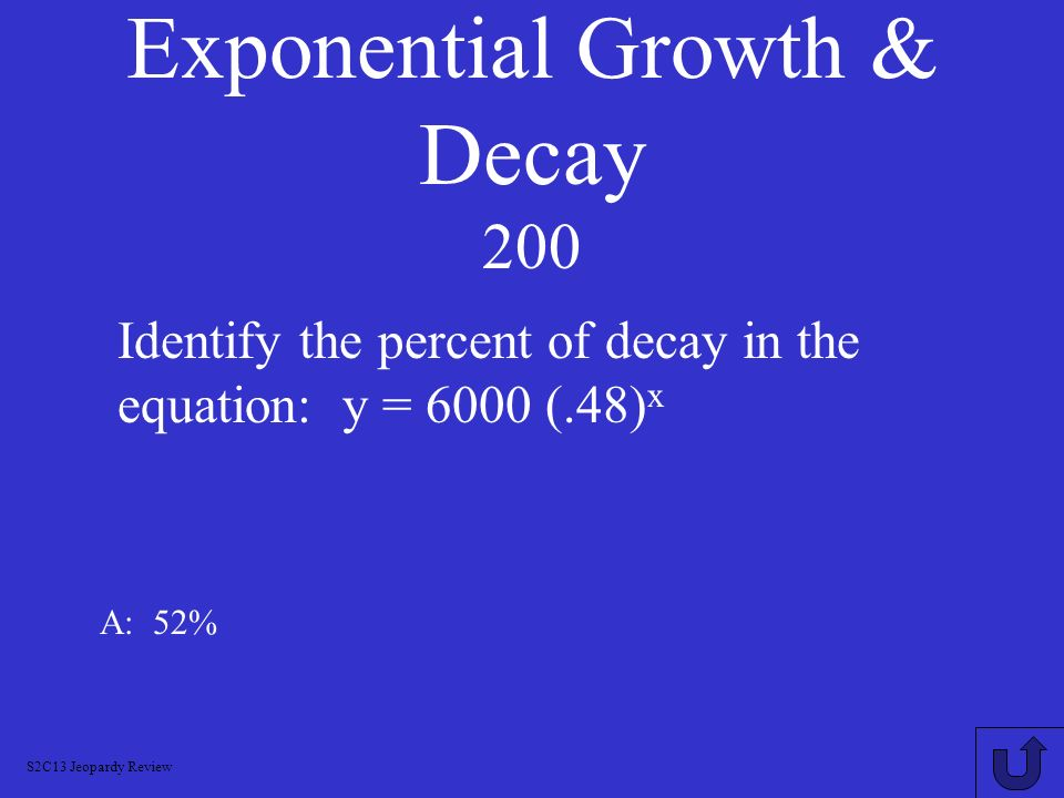 Exponential Growth & Decay 200