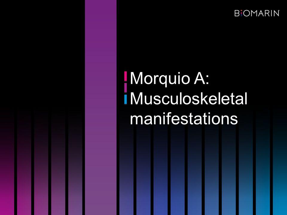 Morquio A: Musculoskeletal manifestations