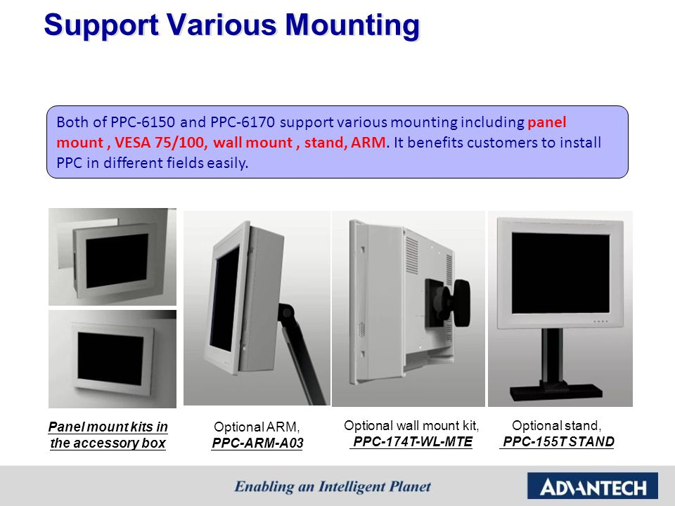 Support Various Mounting