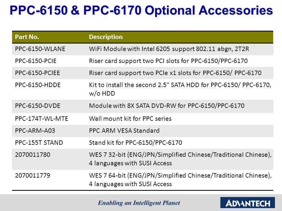 PPC-6150 & PPC-6170 Optional Accessories