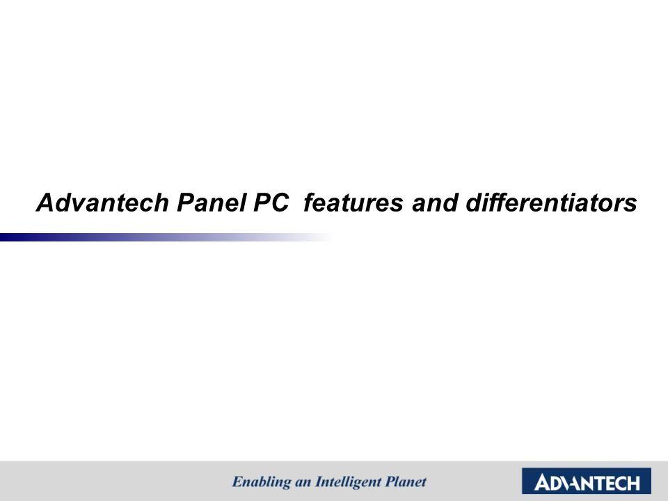Advantech Panel PC features and differentiators