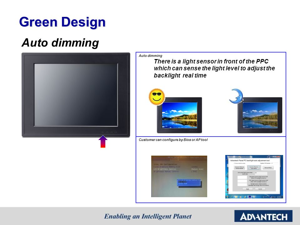 Green Design Auto dimming