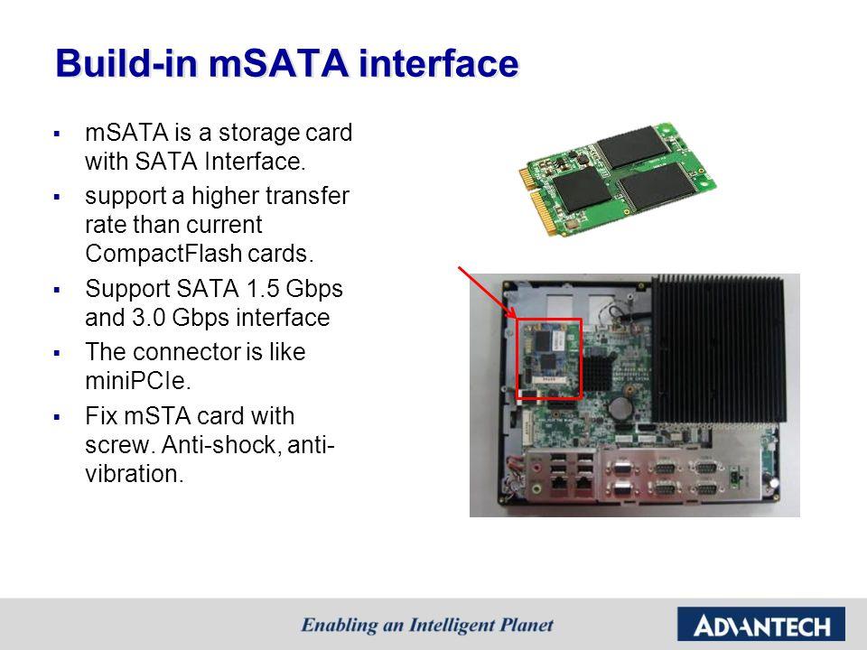 Build-in mSATA interface