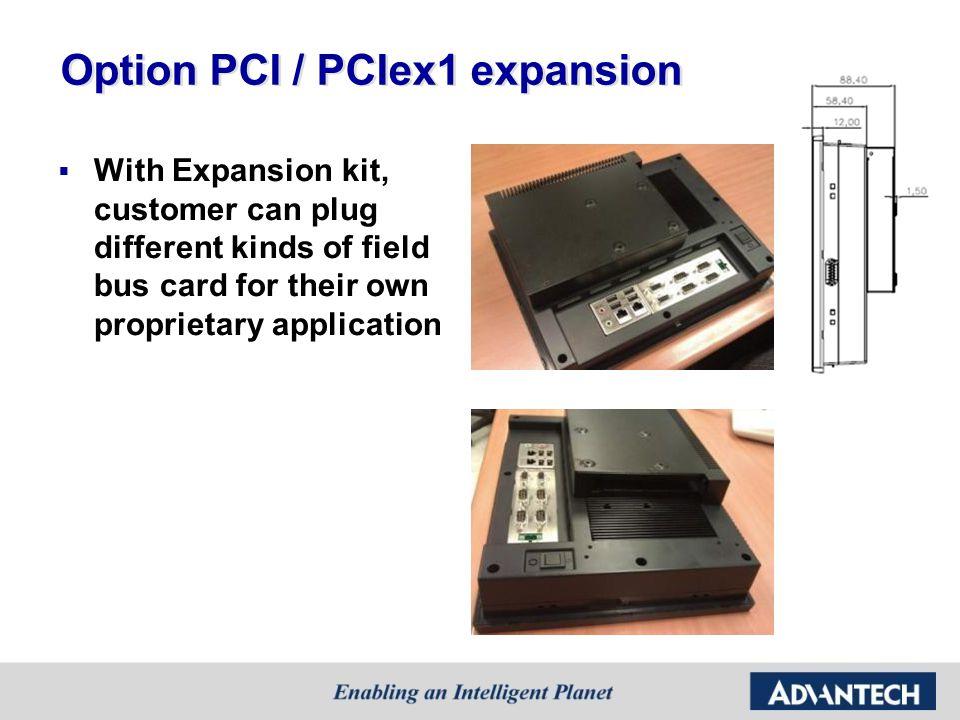 Option PCI / PCIex1 expansion
