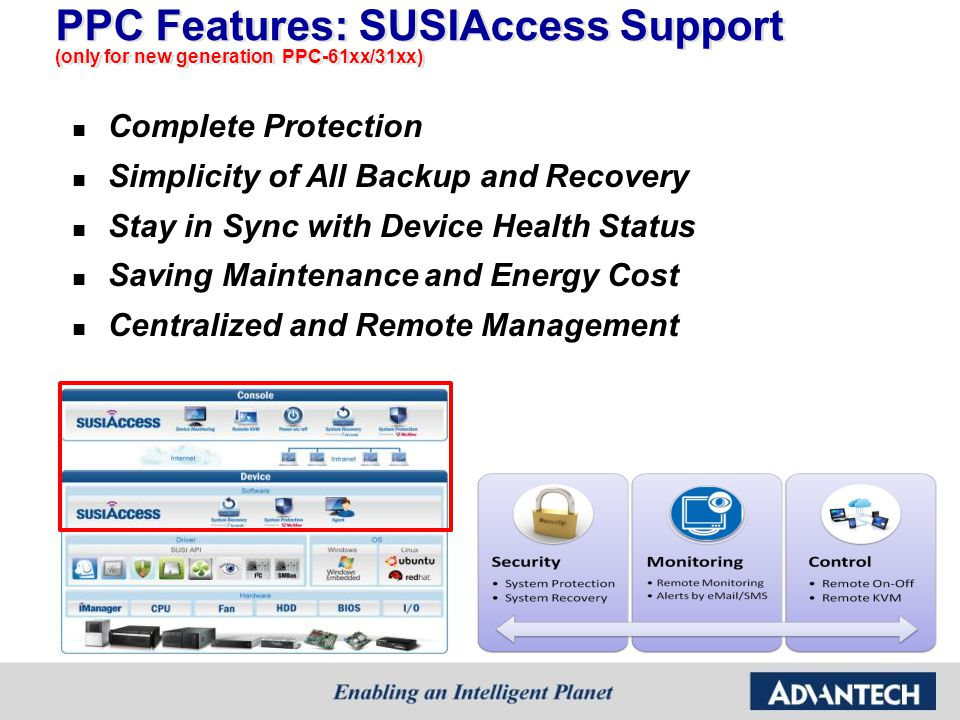 PPC Features: SUSIAccess Support (only for new generation PPC-61xx/31xx)