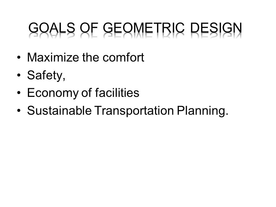 goals of geometric design