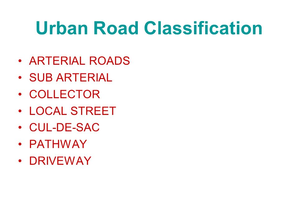 Urban Road Classification