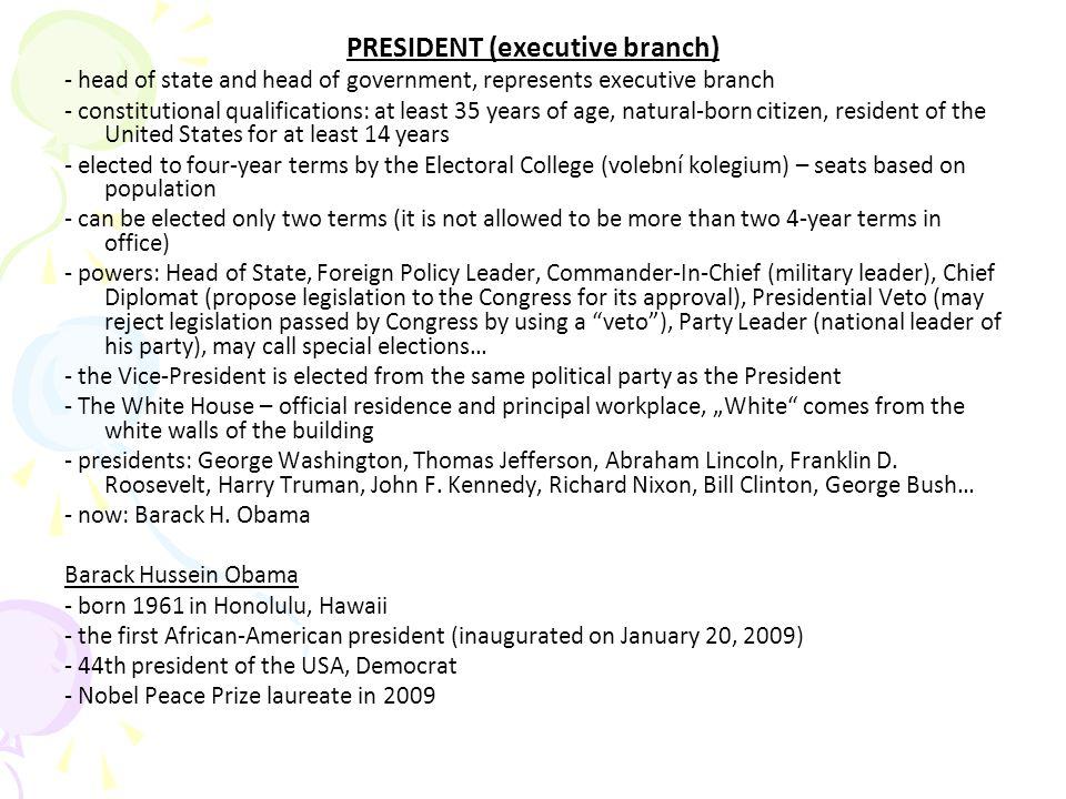 PRESIDENT (executive branch)