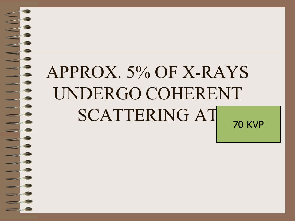 APPROX. 5% OF X-RAYS UNDERGO COHERENT SCATTERING AT